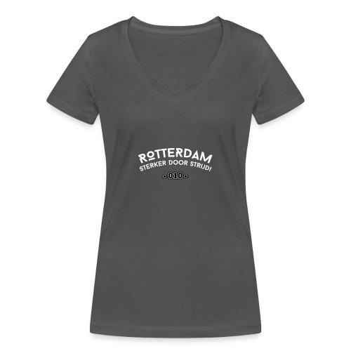 Rotterdam - sterker door strijd - Vrouwen bio T-shirt met V-hals van Stanley & Stella