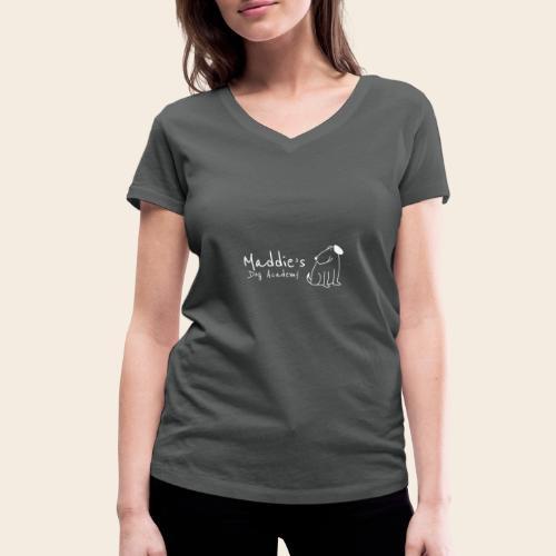 Académie des chiens de Maddie (blanc) - T-shirt bio col V Stanley & Stella Femme