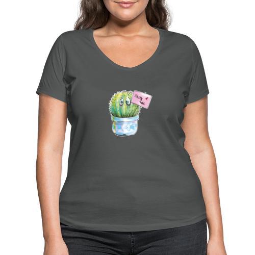 hug me - Frauen Bio-T-Shirt mit V-Ausschnitt von Stanley & Stella