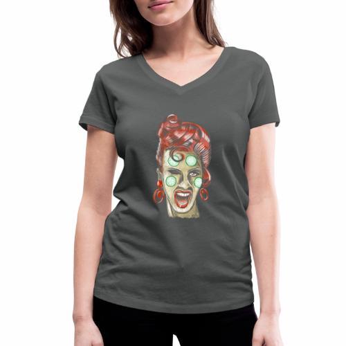 Ladies beautiful day, Textiles and Gifts FP44 01 - Stanley & Stellan naisten v-aukkoinen luomu-T-paita