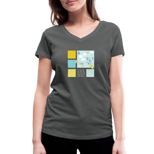 Sommerregen Liebe - Frauen Bio-T-Shirt mit V-Ausschnitt von Stanley & Stella