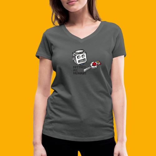 Dat Robot: Destroy Series Smoking Light - Vrouwen bio T-shirt met V-hals van Stanley & Stella