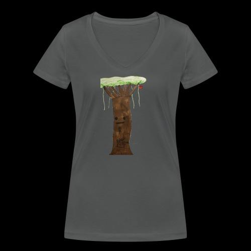 1 2 3 BY TAiTO - Stanley & Stellan naisten v-aukkoinen luomu-T-paita