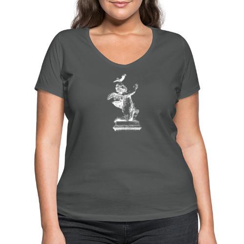 tauber Engel - Frauen Bio-T-Shirt mit V-Ausschnitt von Stanley & Stella