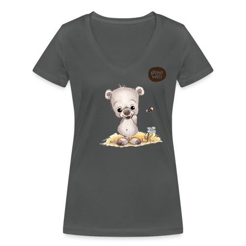 Noah der kleine Bär - Frauen Bio-T-Shirt mit V-Ausschnitt von Stanley & Stella