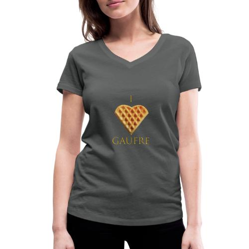 i love gaufre - T-shirt bio col V Stanley & Stella Femme