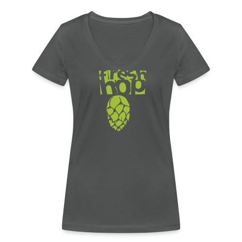 fresh hop cervecearte - Camiseta ecológica mujer con cuello de pico de Stanley & Stella
