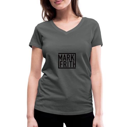 MARK FRITH Logo BLACK - Women's Organic V-Neck T-Shirt by Stanley & Stella