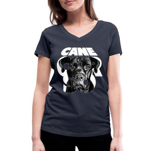 Cane Corso White - Stanley & Stellan naisten v-aukkoinen luomu-T-paita