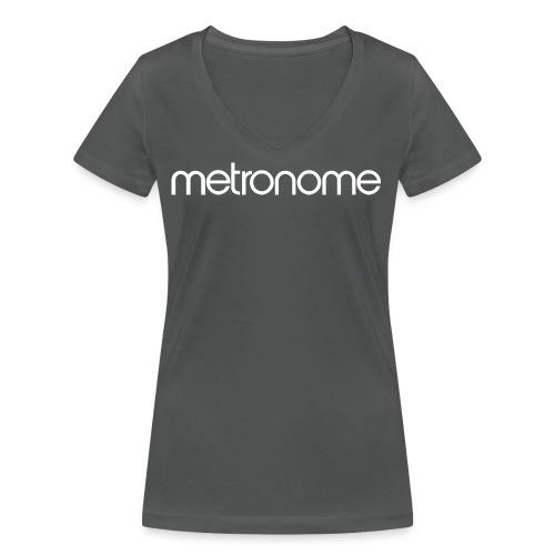metronomelogo - Women's Organic V-Neck T-Shirt by Stanley & Stella