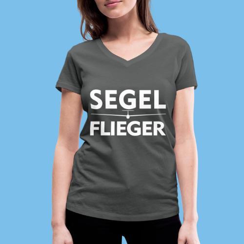 Segelflieger Segelflugzeug Spruch Geschenk Pilot - Frauen Bio-T-Shirt mit V-Ausschnitt von Stanley & Stella