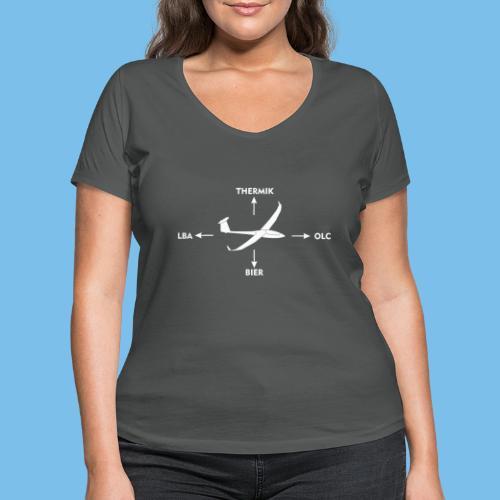 Kraftpfeile Segelflugzeug lustig OLC LBA Geschenk - Frauen Bio-T-Shirt mit V-Ausschnitt von Stanley & Stella