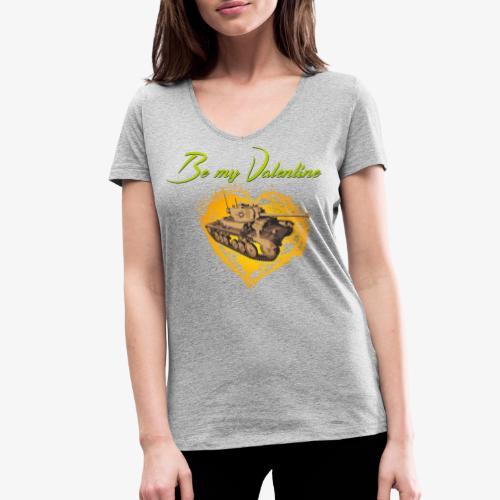 Glowing Valentine Heart - Frauen Bio-T-Shirt mit V-Ausschnitt von Stanley & Stella