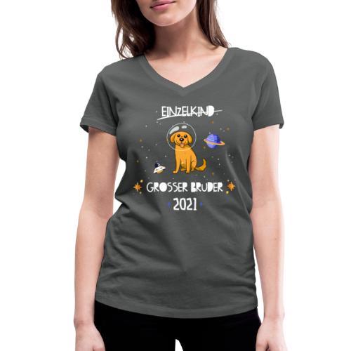 Großer Bruder 2021 Astronauten Hund Planeten - Frauen Bio-T-Shirt mit V-Ausschnitt von Stanley & Stella