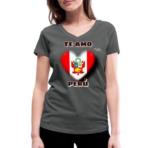 Te Amo Peru Corazon - Frauen Bio-T-Shirt mit V-Ausschnitt von Stanley & Stella