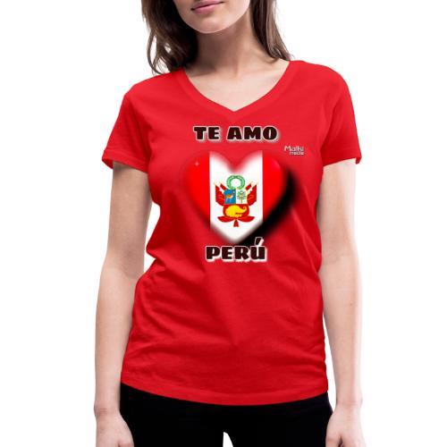Te Amo Peru Corazon - Women's Organic V-Neck T-Shirt by Stanley & Stella