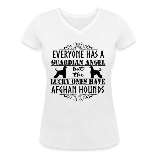 Afghan Hound Angels - Women's Organic V-Neck T-Shirt by Stanley & Stella
