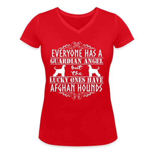 Afghan Hound Angels 2 - Women's Organic V-Neck T-Shirt by Stanley & Stella