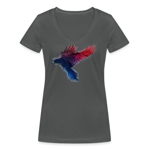 Watercolor Raven - Frauen Bio-T-Shirt mit V-Ausschnitt von Stanley & Stella