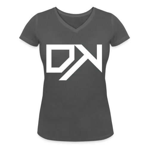 DewKee Logo Mug White - Women's Organic V-Neck T-Shirt by Stanley & Stella
