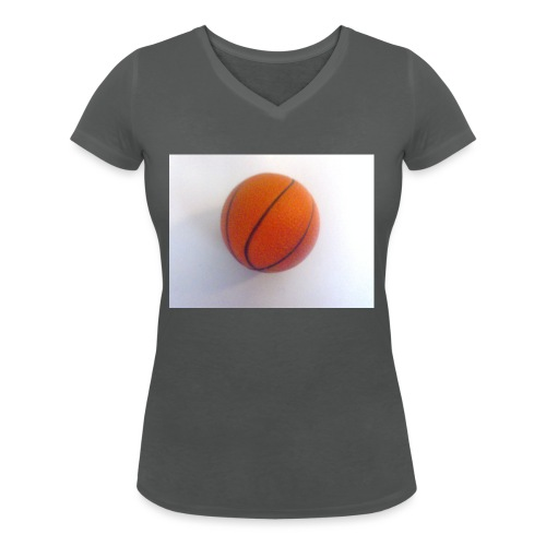 Basketball - Women's Organic V-Neck T-Shirt by Stanley & Stella
