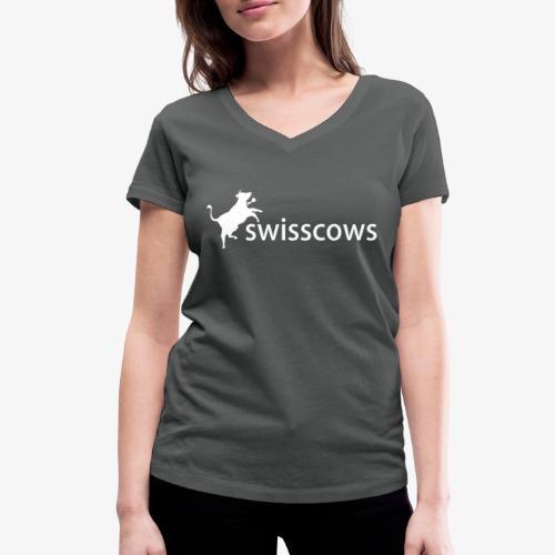 Swisscows - Logo - Frauen Bio-T-Shirt mit V-Ausschnitt von Stanley & Stella