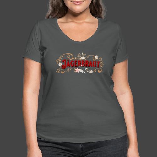 Jägerbraut - original Jägershirt - Frauen Bio-T-Shirt mit V-Ausschnitt von Stanley & Stella