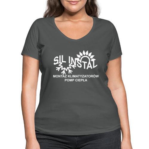 sil instal - Ekologiczna koszulka damska z dekoltem w serek Stanley & Stella
