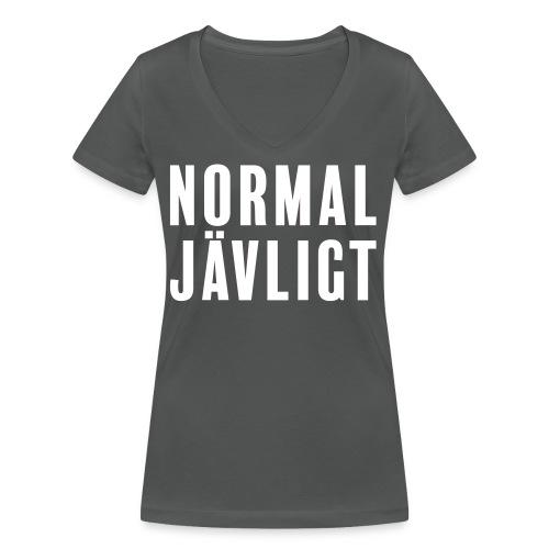 Normaljävligt - Ekologisk T-shirt med V-ringning dam från Stanley & Stella