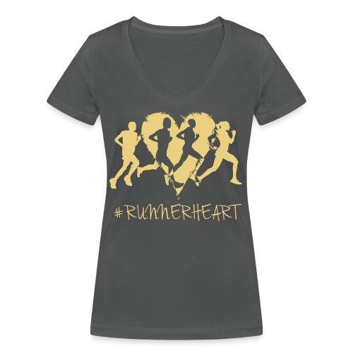 #Runnerheart Group - Frauen Bio-T-Shirt mit V-Ausschnitt von Stanley & Stella