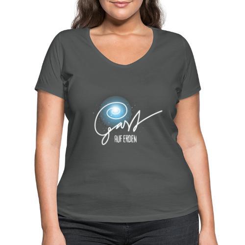 Gast auf Erden - Frauen Bio-T-Shirt mit V-Ausschnitt von Stanley & Stella