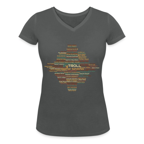 Pytroll wordcloud march 2019 - Women's Organic V-Neck T-Shirt by Stanley & Stella