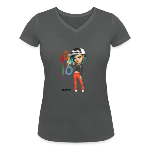 Maya - von Momio Designer Cat9999 - Frauen Bio-T-Shirt mit V-Ausschnitt von Stanley & Stella