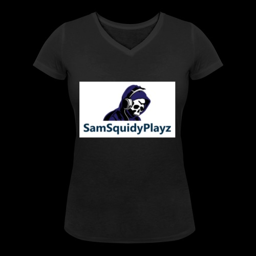 SamSquidyplayz skeleton - Women's Organic V-Neck T-Shirt by Stanley & Stella