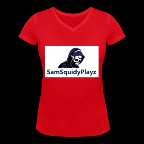 SamSquidyplayz skeleton - Women's Organic V-Neck T-Shirt by Stanley & Stella