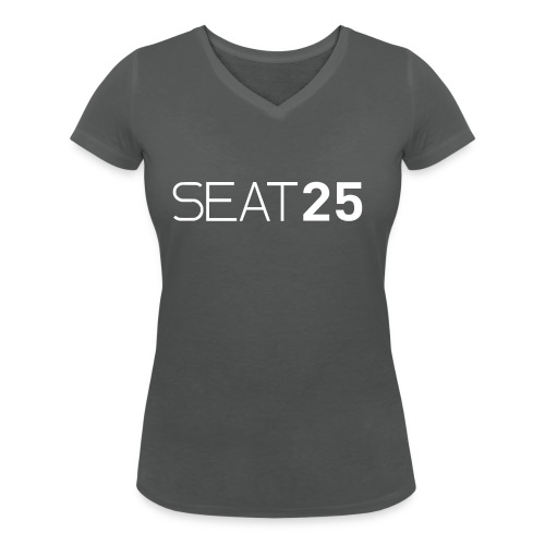 Seat25 Logo Light - Women's Organic V-Neck T-Shirt by Stanley & Stella