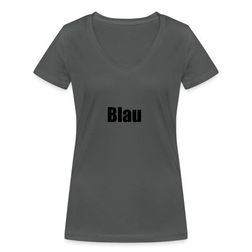 Blau - Frauen Bio-T-Shirt mit V-Ausschnitt von Stanley & Stella