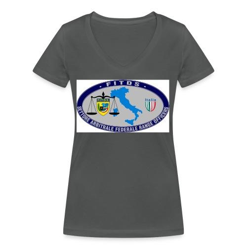 Logo SAFRO - T-shirt ecologica da donna con scollo a V di Stanley & Stella