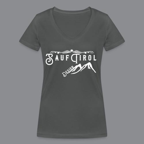 Sauftirol Weiss - Frauen Bio-T-Shirt mit V-Ausschnitt von Stanley & Stella