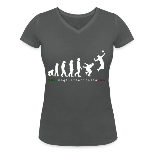evolution volley attack w new - T-shirt ecologica da donna con scollo a V di Stanley & Stella