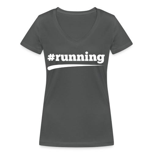 #RUNNING - Frauen Bio-T-Shirt mit V-Ausschnitt von Stanley & Stella
