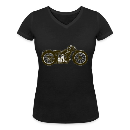 Classic Cafe Racer - Women's Organic V-Neck T-Shirt by Stanley & Stella