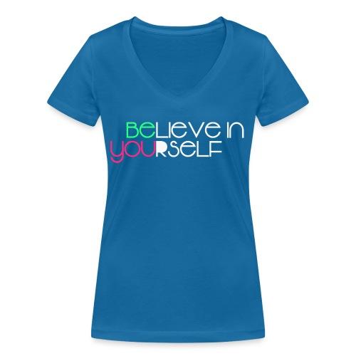 be you - T-shirt ecologica da donna con scollo a V di Stanley & Stella