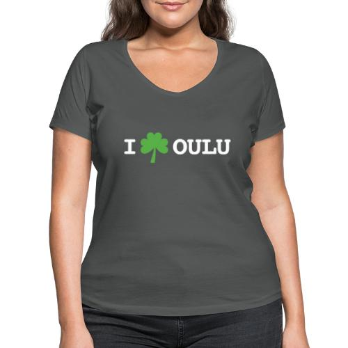 I shamrock Oulu - Classic Model - Stanley & Stellan naisten v-aukkoinen luomu-T-paita