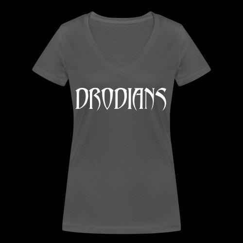 DRODIANS WHITE - Women's Organic V-Neck T-Shirt by Stanley & Stella