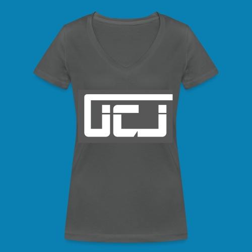 JCJ Grey - Women's Organic V-Neck T-Shirt by Stanley & Stella