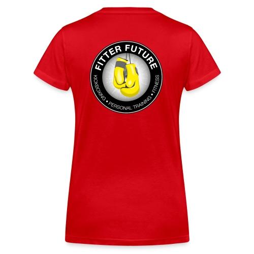 Fitter Future logo - Vrouwen bio T-shirt met V-hals van Stanley & Stella