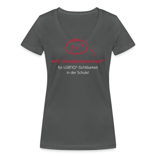 Gendersternchen* eps - Frauen Bio-T-Shirt mit V-Ausschnitt von Stanley & Stella