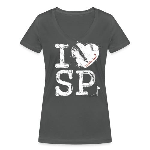 I love SP - Frauen Bio-T-Shirt mit V-Ausschnitt von Stanley & Stella