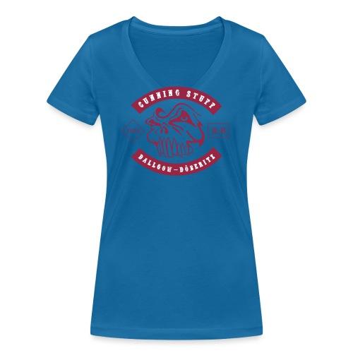 CS-Logo-Skull-01-NEW-Pfad - Frauen Bio-T-Shirt mit V-Ausschnitt von Stanley & Stella